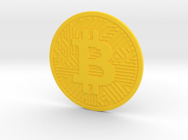 Bitcoin (2.25 Inches) in Yellow Strong & Flexible Polished