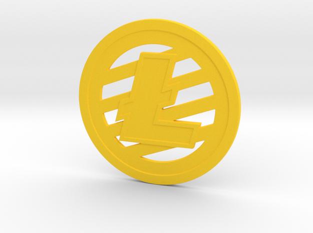 Litecoin (2.25 Inches) in Yellow Processed Versatile Plastic