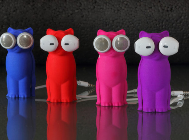 Kitty Cat Earbud Storage Case 3d printed Bud-E Kitty Cat Line Up.
