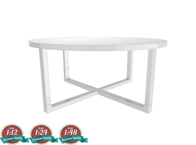 Miniature Rissna Coffee Table Version 2 - IKEA in White Strong & Flexible: 1:24