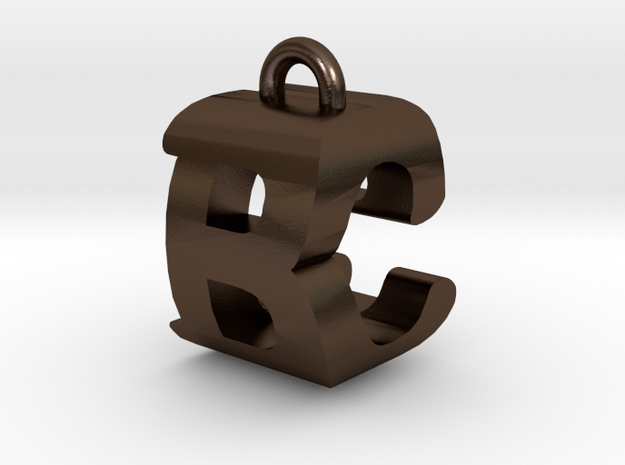 3D-Initial-BC in Polished Bronze Steel