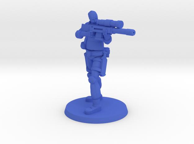 37mm Andrew 'Bones' in Blue Processed Versatile Plastic