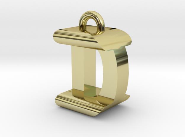 3D-Initial-DI in 18k Gold Plated