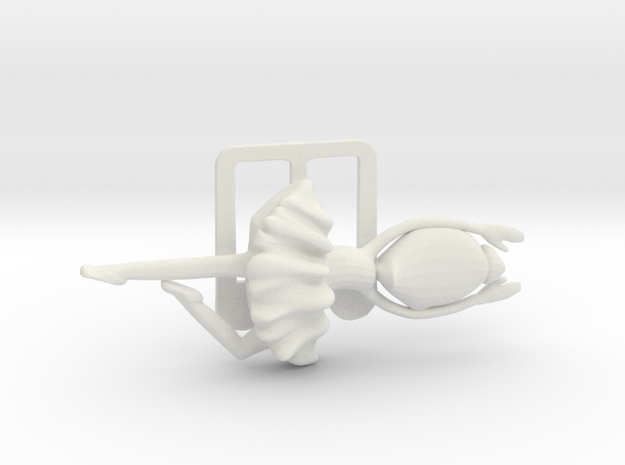 Clamp with ballerina for business cards in White Strong & Flexible