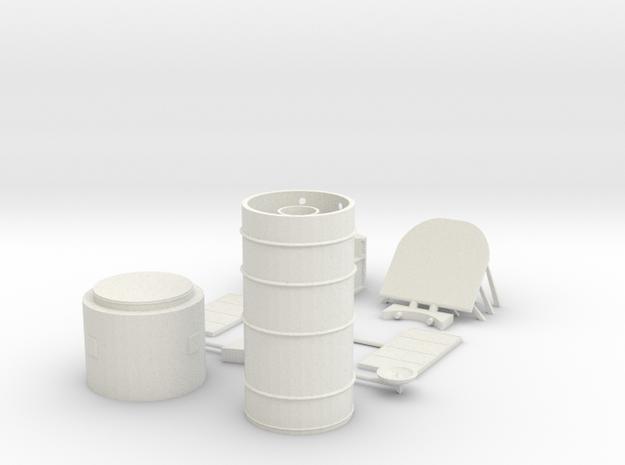 Hubble Model Kit in White Natural Versatile Plastic