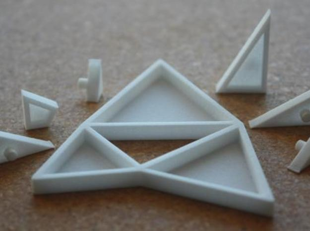 The Triangles of Pythagoras Puzzle in White Natural Versatile Plastic