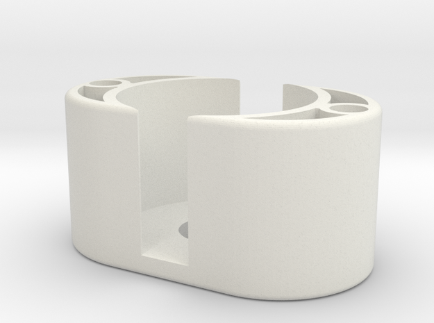 Spare Battery Holder in White Strong & Flexible