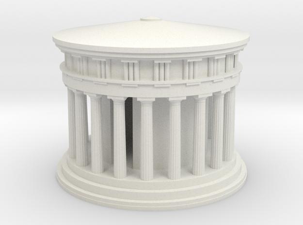 Athena Temple in Delphi in White Natural Versatile Plastic: Medium