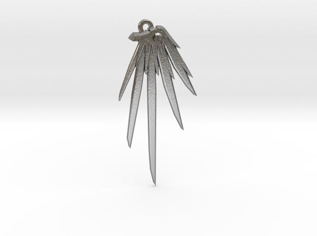 Mercy Wings Earrings in Natural Silver