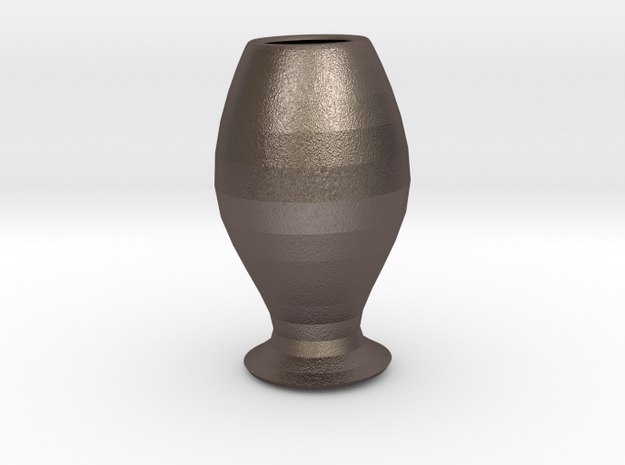5-inch Goblet in Polished Bronzed Silver Steel