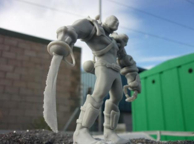 Space Pirate 3d printed This Space Pirate is looking mean at 130mm tall