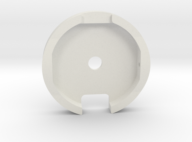 M12 Side Winder Wheel  in White Natural Versatile Plastic