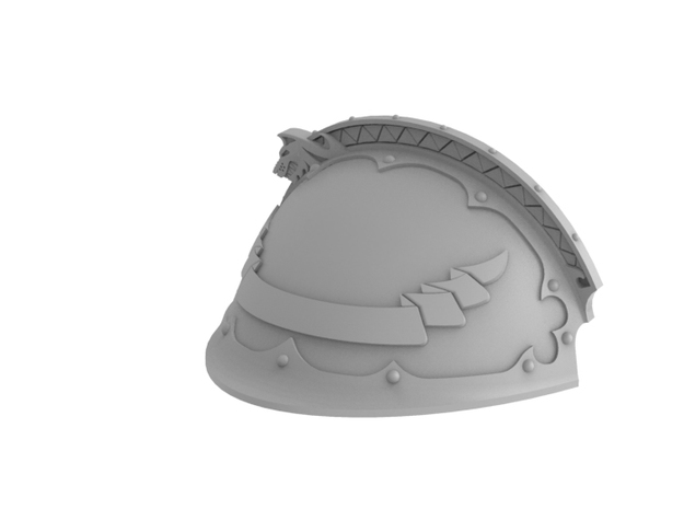 Iron Wolf - Left Shoulder Pad in Frosted Ultra Detail