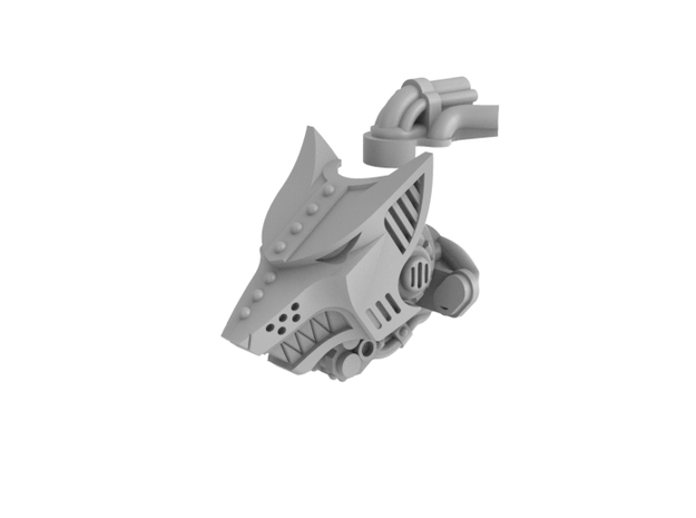 Iron Wolf - Head in Frosted Ultra Detail
