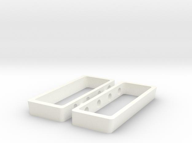 AJPE 1/25 Hemi Heads Only in White Processed Versatile Plastic