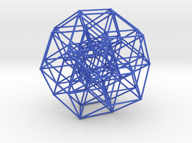 6 Cube to H4 in Blue Strong & Flexible Polished