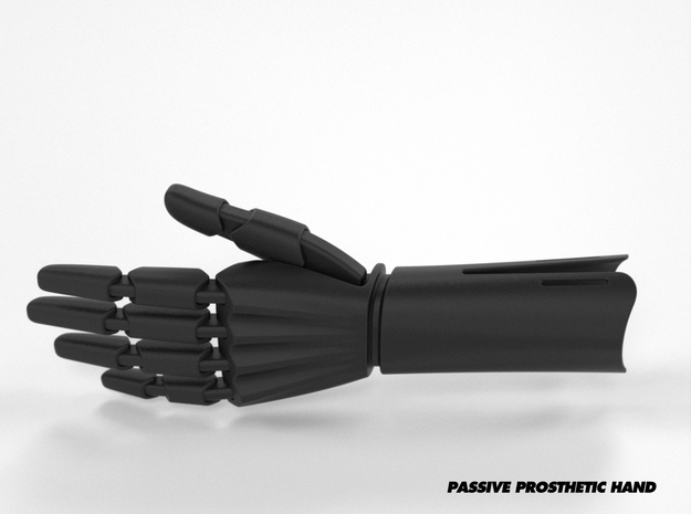 Passive Prosthetic Hand in Black Strong & Flexible