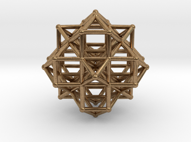 Vector Equilibrium Cluster 8VE 7Octa 50mm  in Natural Brass