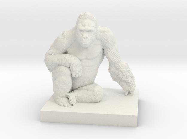 Gorilla Harambe in White Natural Versatile Plastic