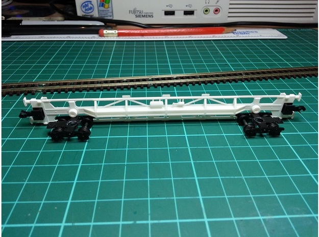 8 * KFA Wagon N Gauge 1:148 3d printed KFA Side