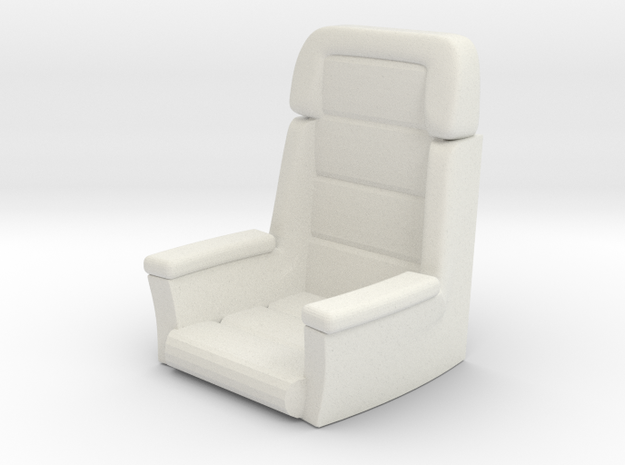 Captain's Chair (Star Trek Voyager), 1/30 in White Natural Versatile Plastic