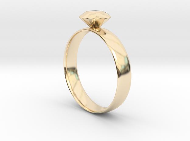 Metallic Diamond Ring 7 in 14K Yellow Gold