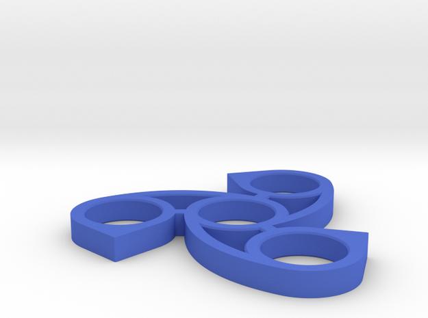 Waterdrop Fidget Spinner in Blue Processed Versatile Plastic