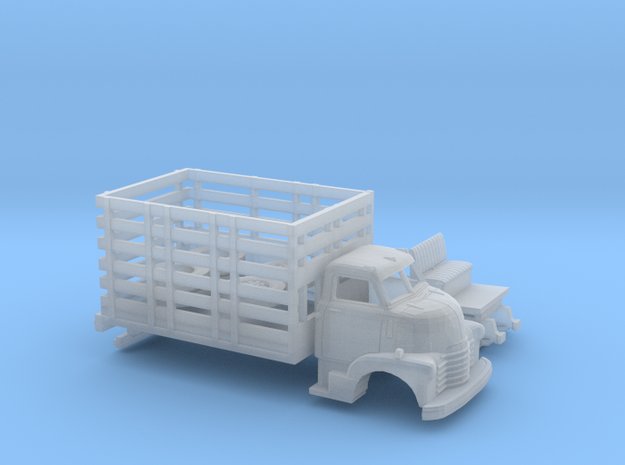 1/87 1949 Chevy COE High Stakebed Kit in Smooth Fine Detail Plastic