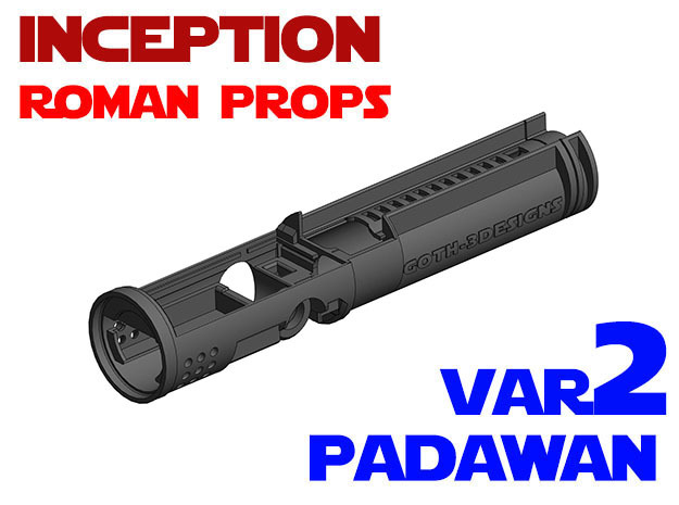 Roman Props Inception - Padawan Var 2 in White Strong & Flexible