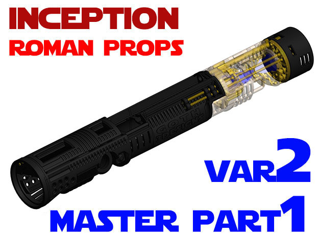Roman Props Inception - Master Chassis Part1 Var2 in White Strong & Flexible