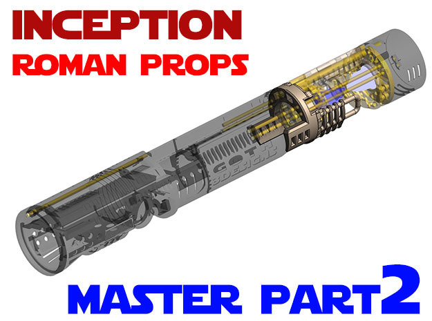 Roman Props Inception - Master Chassis Part2 in White Strong & Flexible