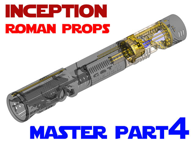 Roman Props Inception - Master Chassis Part4 in White Strong & Flexible