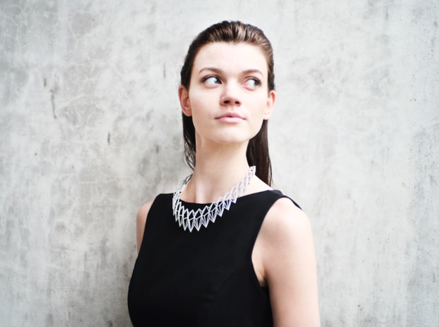 Rhombus Necklace in White Strong & Flexible
