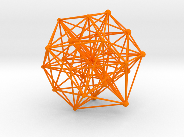 E8ArtPrint0007 24 Cell Projection in Orange Strong & Flexible Polished