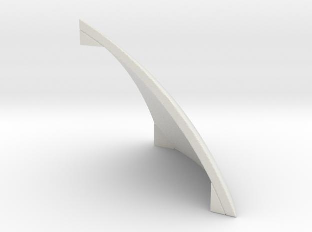4x4 ball corner in White Natural Versatile Plastic