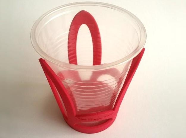 Cup Holder in White Strong & Flexible