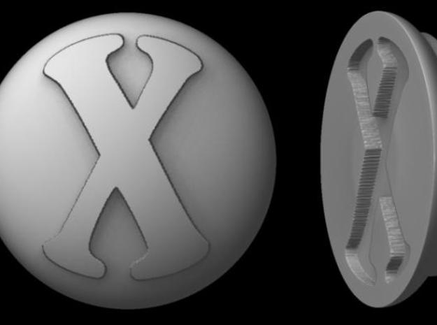 "Paperweight - ""X"" in White Natural Versatile Plastic"