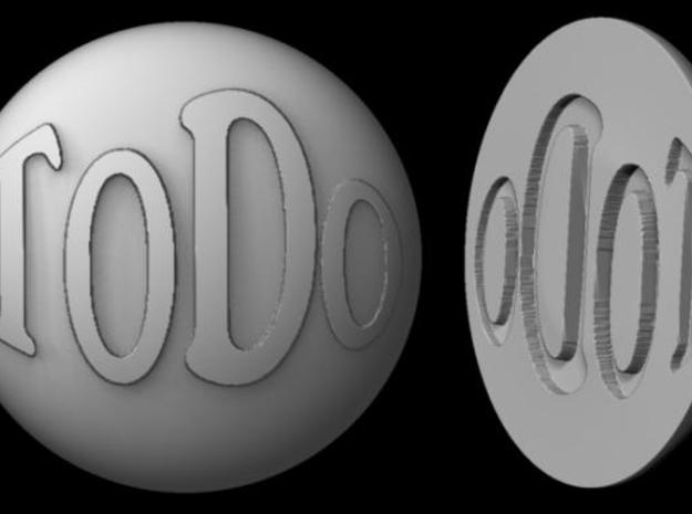 Paperweight - To Do in White Natural Versatile Plastic