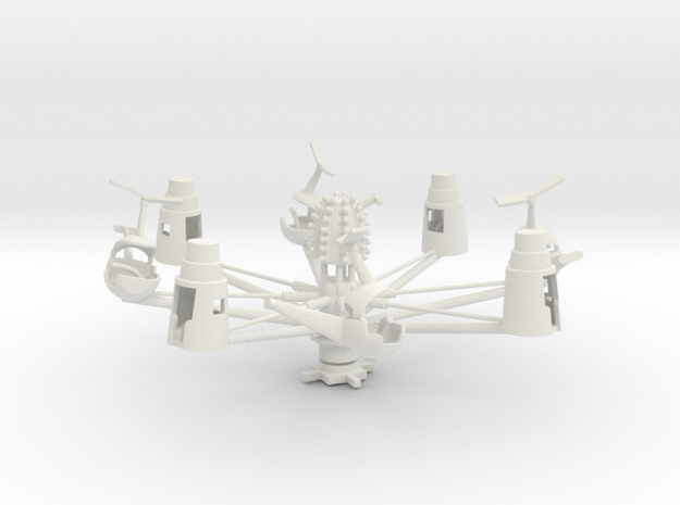 Herschell combo helicopter and astronaut in White Natural Versatile Plastic