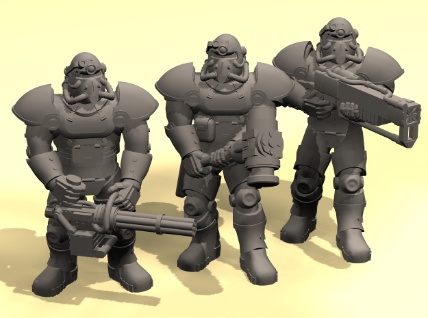 28mm Wastefall Metal Brothers squad