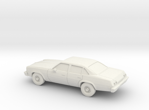 1/87 1973 Chevrolet Chevelle Sedan in White Natural Versatile Plastic