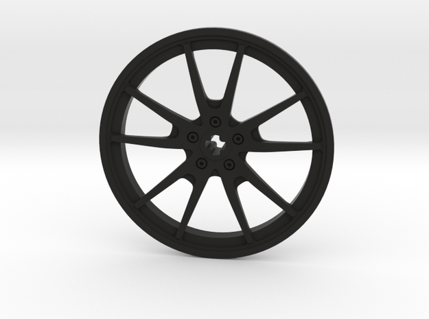 Racing Wheel Cover 14_56mm in Black Natural Versatile Plastic
