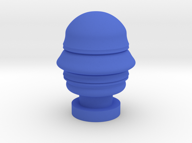 Futuristic Silvio Berlusconi head sculpture in Blue Processed Versatile Plastic