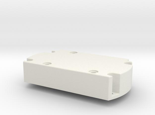 Servo Motor Mount in White Natural Versatile Plastic