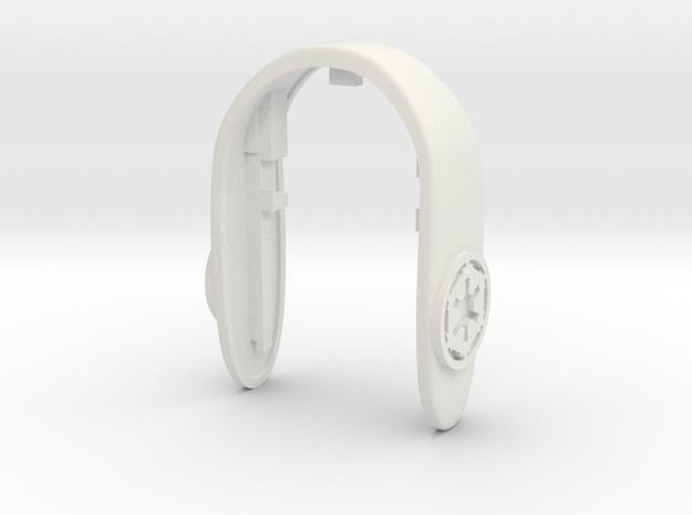 IMPERIAL COG KEY FOB  in White Natural Versatile Plastic