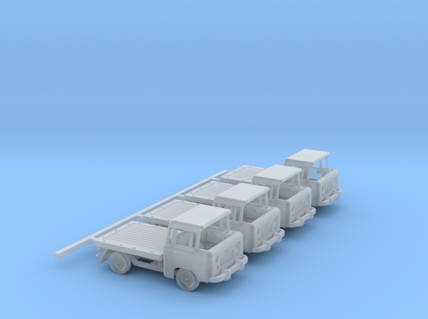 1959 FC150 Pickup Truck with a Flatbed (x4) in Frosted Ultra Detail: 1:160 - N