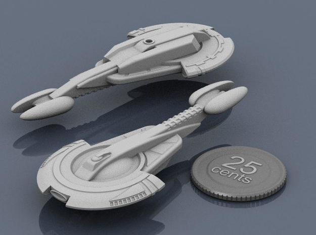 Aratouk Savakt class Cruiser 3d printed Renders of the model, with a virtual quarter for scale.