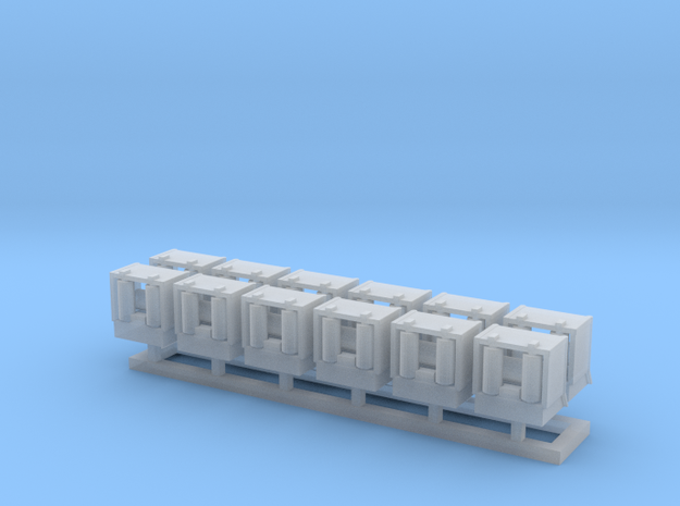 Roller Chocks 144scale in Smooth Fine Detail Plastic