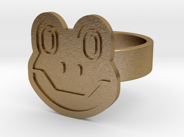 Frog Ring in Polished Gold Steel: 10 / 61.5