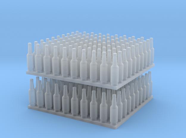 1:64 Ver1 Beer Bottles 200ea in Smooth Fine Detail Plastic